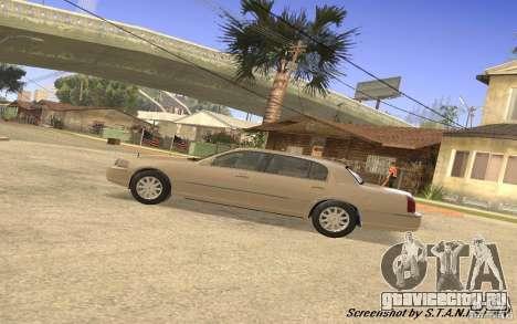 Lincoln Towncar Secret Service для GTA San Andreas вид сзади