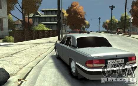 ГАЗ Волга 31105 для GTA 4 вид сзади слева