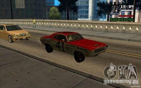 Dodge Challenger 1971 для GTA San Andreas вид сзади слева