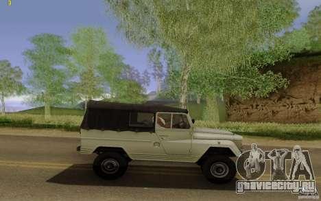 УАЗ 460Б для GTA San Andreas вид слева