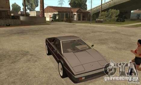 Lotus Esprit S3 для GTA San Andreas вид сзади