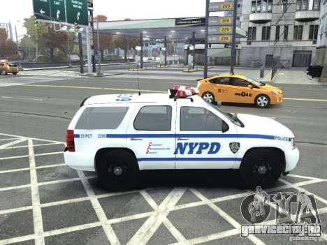 Chevrolet Tahoe NYCPD для GTA 4 вид слева