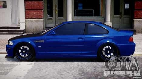 BMW M3 E46 Tuning 2001 для GTA 4 вид слева