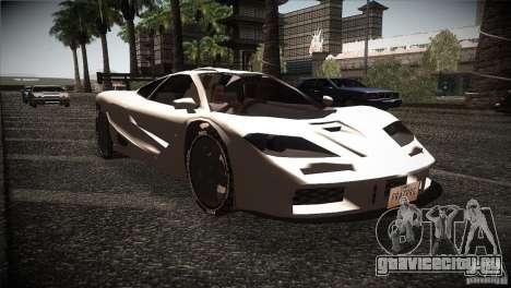 McLaren F1 LM для GTA San Andreas вид сзади
