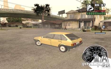 ВАЗ 21093i для GTA San Andreas вид изнутри