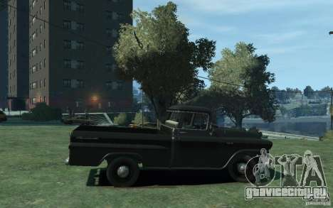 Chevrolet Apache Fleetside 1958 для GTA 4 вид сзади