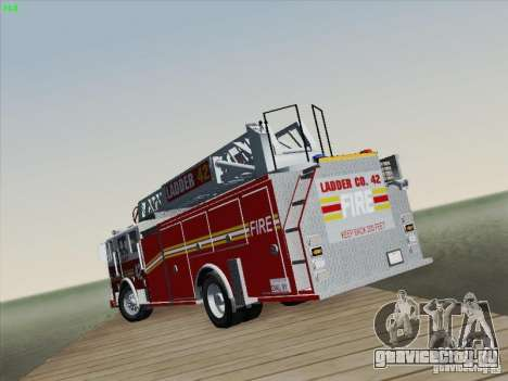 Seagrave Ladder 42 для GTA San Andreas вид снизу