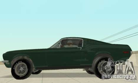 Ford Mustang Bullitt 1968 v.2 для GTA San Andreas вид сзади слева