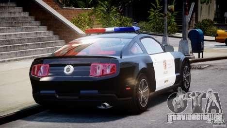 Ford Mustang V6 2010 Police v1.0 для GTA 4 вид сбоку
