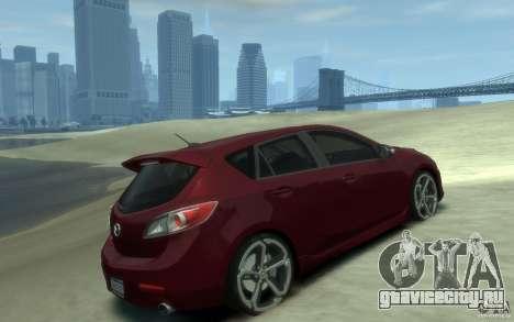 Mazda 3 MPS 2010 для GTA 4 вид справа