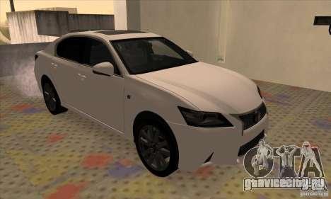 Lexus GS350 F Sport Series IV 2013 для GTA San Andreas