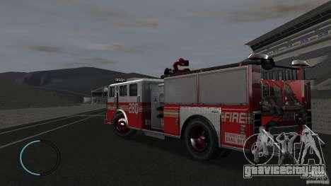 NEW Fire Truck для GTA 4 вид сзади слева