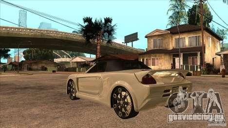 Toyota MR-S Veilside для GTA San Andreas вид сзади слева