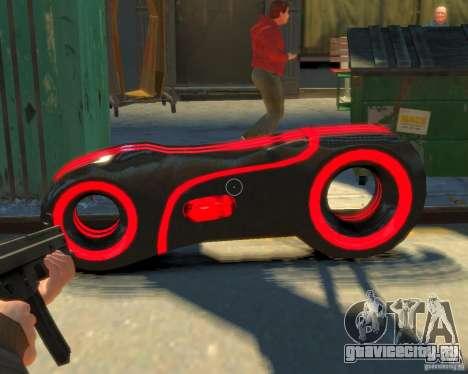 Мотоцикл из Трон (красный неон) для GTA 4 вид справа