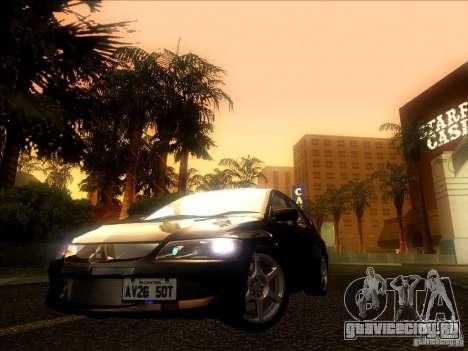 Mitsubishi Lancer Evolution VIII Full Tunable для GTA San Andreas вид слева