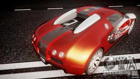 Bugatti Veyron 16.4 v1 для GTA 4 вид снизу