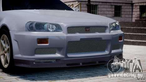 Nissan Skyline GT-R 34 V-Spec для GTA 4 двигатель