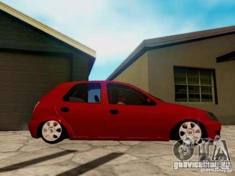 Chevrolet Celta 1.0 VHC для GTA San Andreas вид сзади