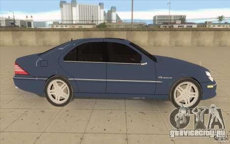 Mercedes-Benz S-Klasse для GTA San Andreas вид изнутри