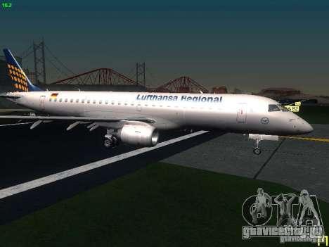 Embraer ERJ 190 Lufthansa Regional для GTA San Andreas