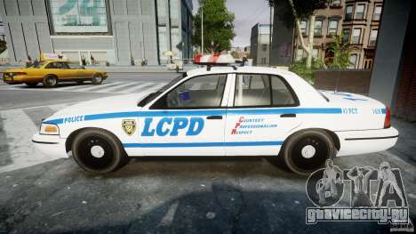 Ford Crown Victoria CVPI-V2.5V для GTA 4 вид изнутри