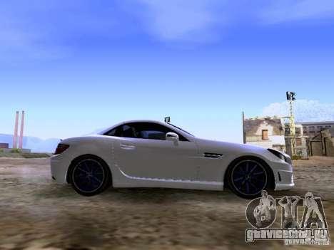 Mercedes-Benz SLK55 AMG 2012 для GTA San Andreas вид изнутри
