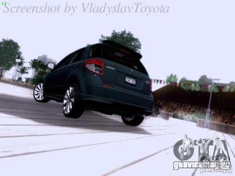 Suzuki SX4 Sportback 2011 для GTA San Andreas вид сзади слева