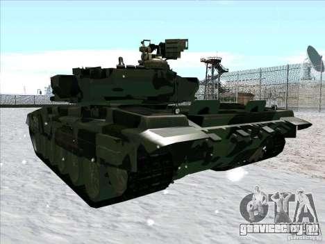 Т-90 из Battlefield 3 для GTA San Andreas вид сбоку