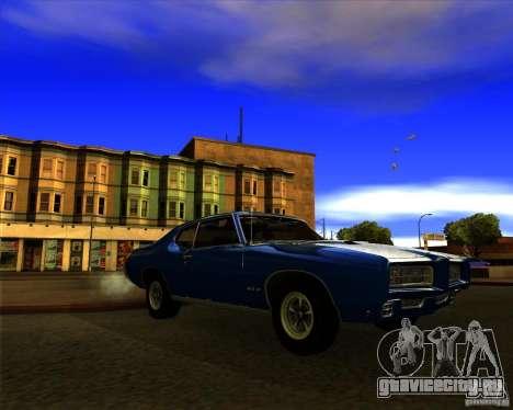 Pontiac GTO 1969 для GTA San Andreas вид сзади