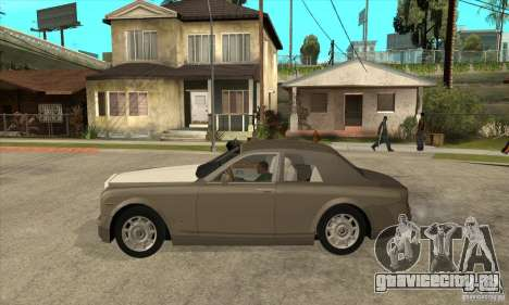 Rolls Royce Coupe 2009 для GTA San Andreas вид слева
