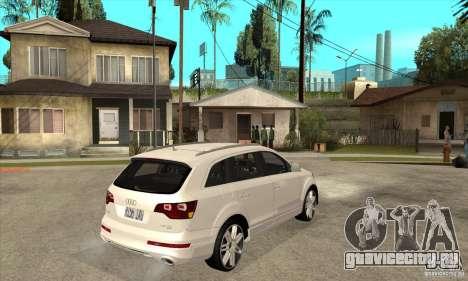 AUDI Q7 V12 V2 для GTA San Andreas вид справа