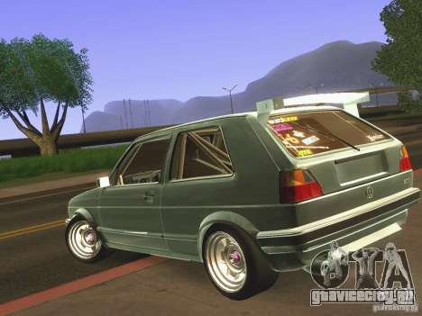 Volkswagen Golf MkII Racing для GTA San Andreas вид сзади