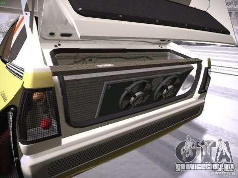 Audi Quattro Pikes Peak для GTA San Andreas вид изнутри