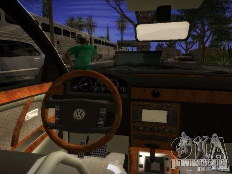 Volkswagen Phaeton W12 для GTA San Andreas вид справа