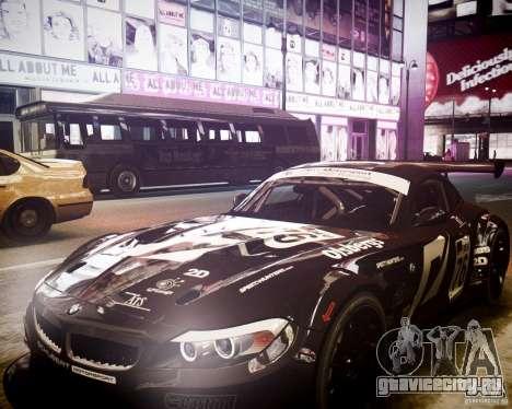 BMW Z4 GT3 2010 для GTA 4 вид сбоку