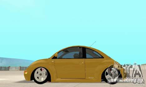 Volkswagen New Beetle GTi 1.8 Turbo для GTA San Andreas вид сзади слева