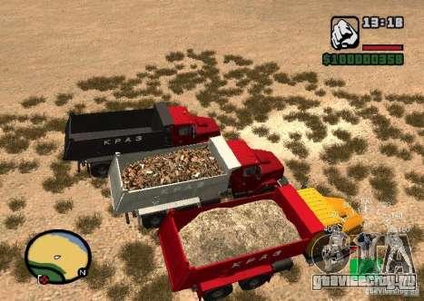 KrAZ 65055 Самосвал для GTA San Andreas вид справа