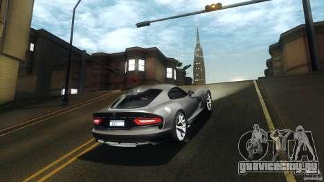 Dodge SRT Viper GTS 2012 V1.0 для GTA San Andreas вид сзади