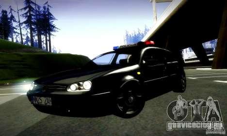 Volkswagen Golf Police для GTA San Andreas вид справа