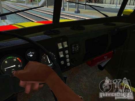 Урал 4320 ГОРСВЕТ для GTA San Andreas вид сбоку