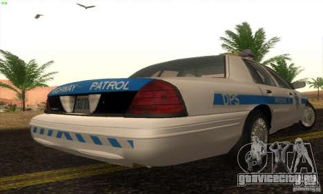 Ford Crown Victoria Arizona Police для GTA San Andreas вид слева