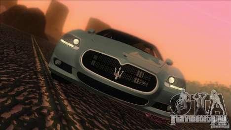 Maserati Quattroporte Sport GT V1.0 для GTA San Andreas вид сзади слева
