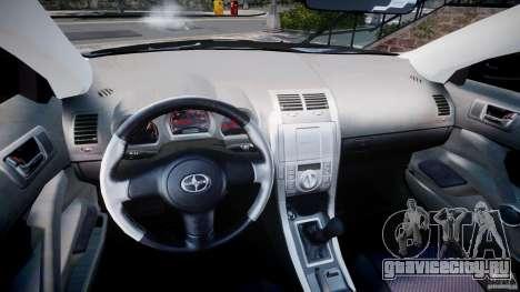 Toyota Scion tC 2.4 Stock для GTA 4 вид сзади