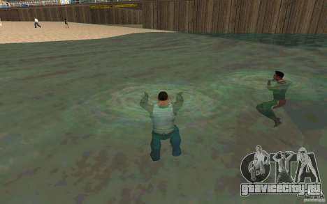 Люди умеют плавать для GTA San Andreas