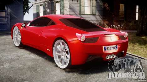 Ferrari 458 Italia Dub Edition для GTA 4 вид сбоку