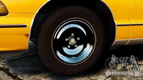 Chevrolet Caprice 1991 LCC Taxi для GTA 4 вид изнутри