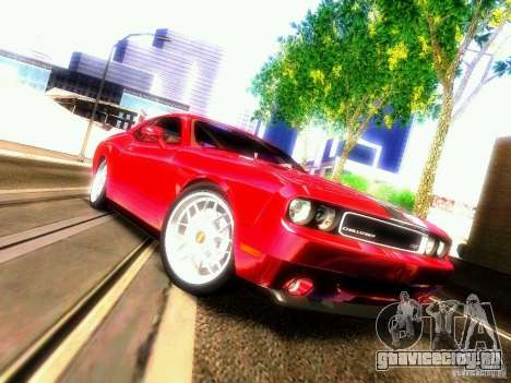 Dodge Challenger SRT8 2009 для GTA San Andreas вид изнутри
