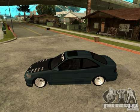 Honda Civic Coupe V-Tech для GTA San Andreas вид слева