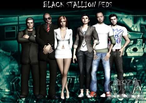 Black Stallion Peds для GTA San Andreas
