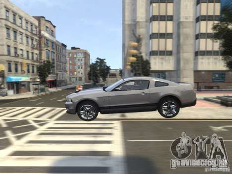 Shelby GT500 2010 для GTA 4 вид сверху